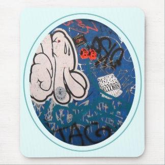 "Pintada de la ""etiqueta"" alfombrilla de ratones"