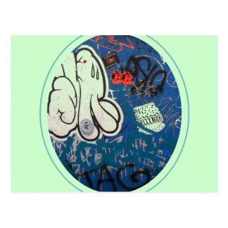 Pintada de la etiqueta postal