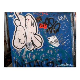 """Pintada de la """"etiqueta"""" tarjeta postal"""