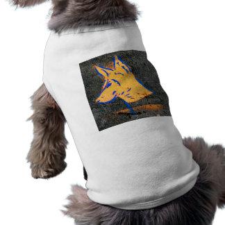 Pintada de la plantilla del Pinscher del Doberman Camiseta Sin Mangas Para Perro