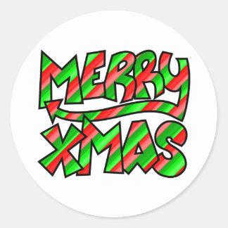 Pintada de Navidad Pegatina Redonda