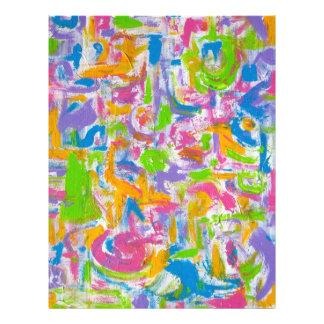 Pintada de neón - arte abstracto folleto 21,6 x 28 cm