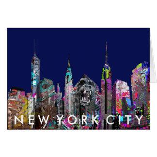 Pintada de New York City Tarjeta