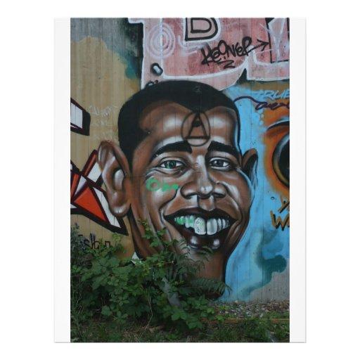 Pintada de Obama Tarjetas Publicitarias