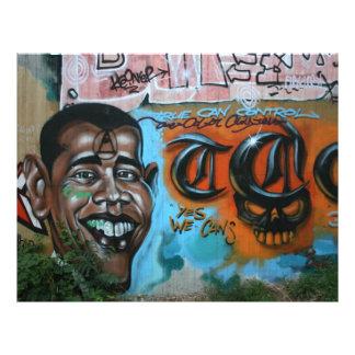 Pintada de Obama Flyer Personalizado