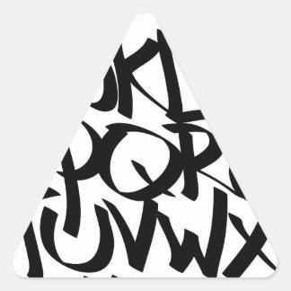 pintada del alfabeto pegatina triangular