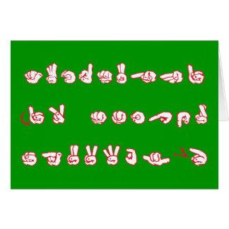 Pintada del ASL ningún L rojo para la tarjeta de