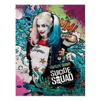 Pintada del carácter del pelotón el | Harley Quinn Postal