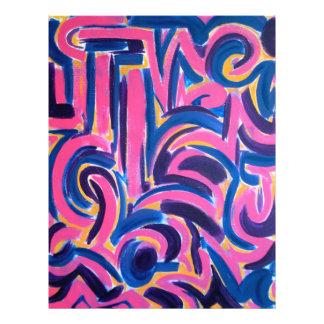 Pintada del griego clásico - arte abstracto tarjeta publicitaria