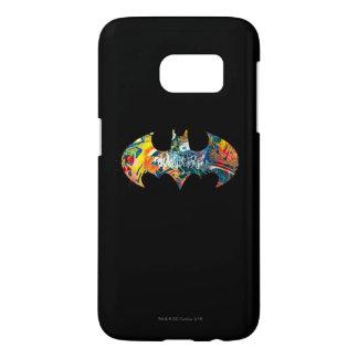 Pintada del logotipo Neon/80s de Batman Funda Samsung Galaxy S7
