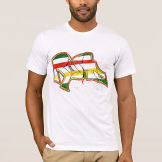 pintada del rasta camiseta