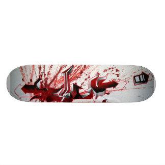 Pintada del rojo de Schu Tablas De Skate