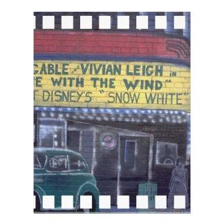 Pintada del teatro tarjetas publicitarias