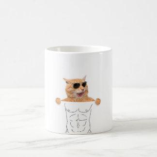 Pintada felina - taza del ABS del gato