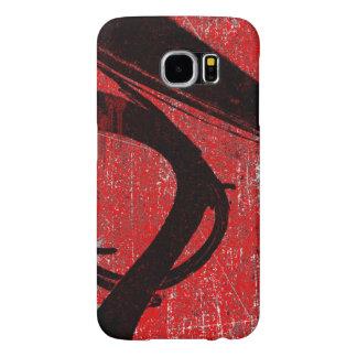 Pintada fresca del rojo del Grunge Funda Samsung Galaxy S6