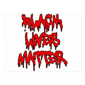 Pintada negra del goteo de la materia de las vidas postal