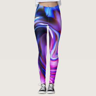 Pintada pintura de aerosol abstracta púrpura, del leggings