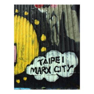 Pintada taiwanesa, Taipei, Taiwán Folleto 21,6 X 28 Cm