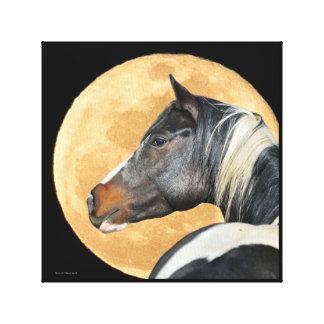 Pinte el caballo con la impresión de la lona de la