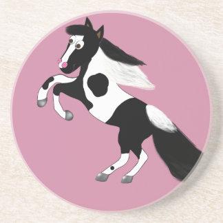 Pinte el caballo posavasos de arenisca