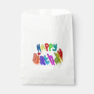 Pinte el feliz cumpleaños de goteo bolsa de papel