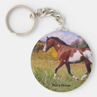 Pinte el llavero el trotar del caballo