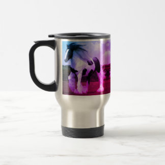 Pinte el viaje del caballo/la taza del viajero