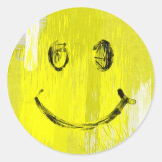 Pinte la cara del smiley de los movimientos pegatinas redondas