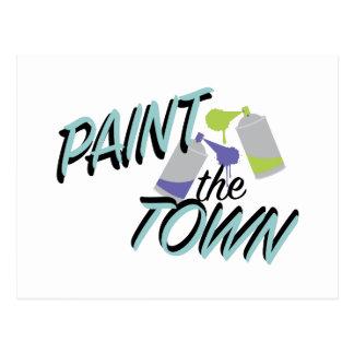 Pinte la ciudad postal