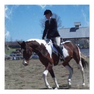 Pinte la invitación de la demostración del caballo