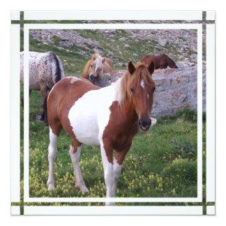 Pinte la invitación del caballo