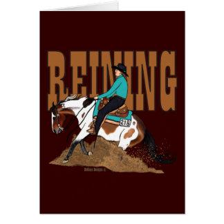 Pinte la tarjeta de felicitación del caballo que
