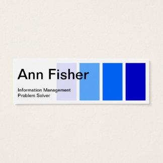 Pinte la tarjeta de visita flaca azul de la