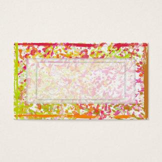 Pinte las salpicaduras con el espacio de la copia tarjeta de negocios