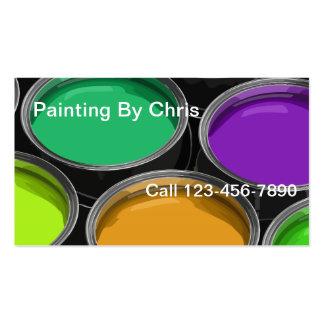 Pinte las tarjetas de visita del pintor de las