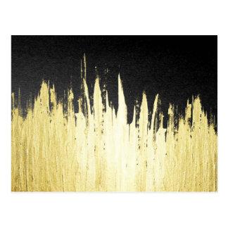 Pinte los movimientos en falso oro en negro postal