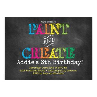 Pinte y cree la invitación del cumpleaños de la