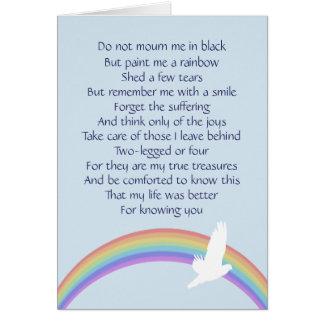 Pínteme un arco iris -- Final adiós Tarjeta De Felicitación