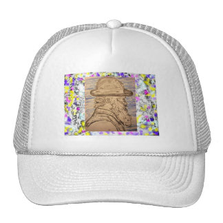 pintor con el goteo del gorra