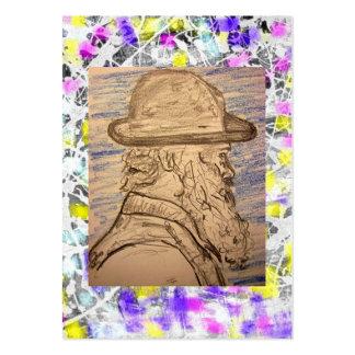 pintor con el goteo del gorra tarjetas de visita grandes