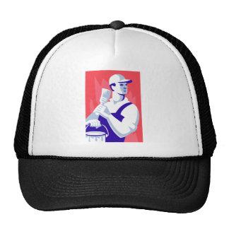 Pintor con la brocha gorra