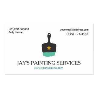 Pintor de casa, logotipo de la brocha tarjetas de visita