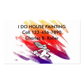 Pintor de casa simple tarjetas de visita