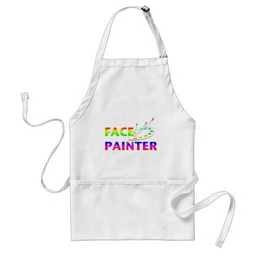 Pintor de la cara delantal