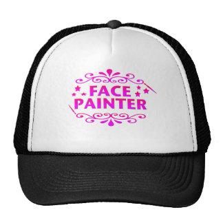 Pintor de la cara gorras de camionero