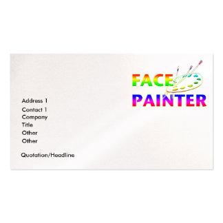 Pintor de la cara plantilla de tarjeta personal