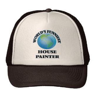 Pintor de la casa más divertida del mundo gorros bordados