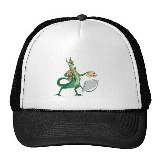 Pintor del dragón gorras de camionero