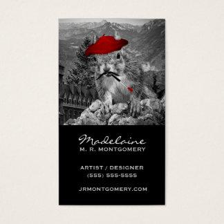 Pintor divertido de la ardilla del artista o del tarjeta de negocios