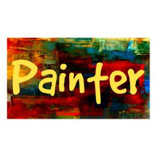 Pintor en tarjeta de visita de la pintura
